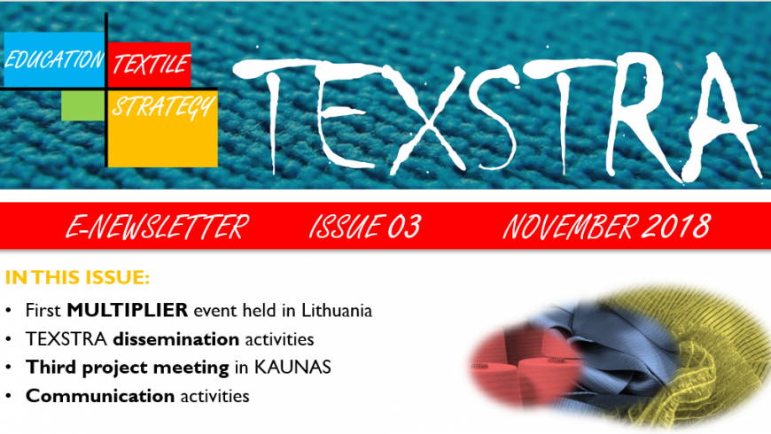 TEXSTRA releases its third newsletter